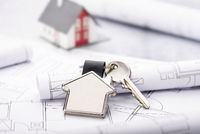 Blueprints and house as key fob