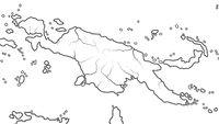 World Map of PAPUA NEW GUINEA: Australasia, Micronesia, Melanesia, Polynesia. Geographic chart.