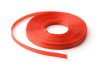 Roll of red ribbon