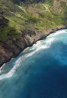 Aerial View Of Na Pali Coast In Kauai, Hawaii
