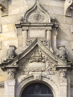 Hanover - New Town Hall, lateral portal, Germany