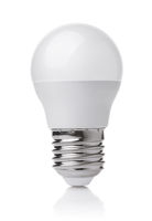 Front view of LED light bulb