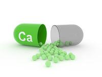Open capsule with Ca calcium