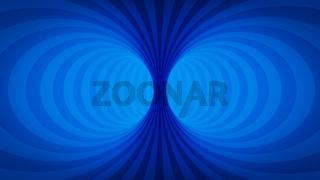 optical illusion blue tunnel