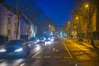 Evening street sweep.