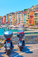 Motorcycles in Porto Venere