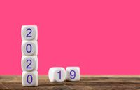 Calendar for 2020 New Year holiday with 2019 in background