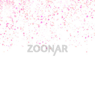 Pink Confetti Pattern Isolated on White Background