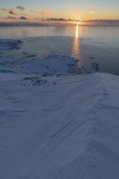 Evening sun, Arctic Ocean, Soeroeya Island, Finnmark, Norway