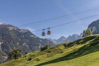 Aerial Cableway Dallenwil - Wirzweli, Nidwalden, Switzerland, Europe