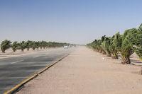 Sandstorm on the Trans Kalahari Highway