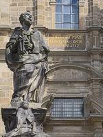 Hildesheim - Sculpture of apostle Peter, Heilig-Kreuz-Kirche, Germany