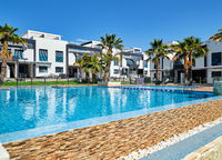 Modern town houses with swimming pool, Torrevieja, Spain