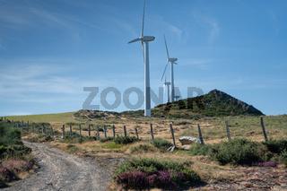 Wind farm, Galicia, Spain
