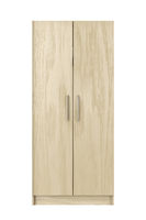 Front view of wood wardrobe