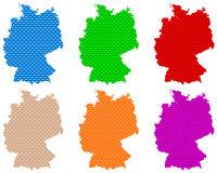 Karten von Deutschland auf grobem Gewebe - Maps of Germany coarse meshed