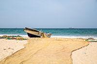 Fishing boats at Trincomalee Beach, Sri Lanka