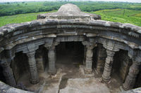 Anandeshwar temple aerial View, Lasur, Daryapur Taluka, Amravati District, Maharashtra, India