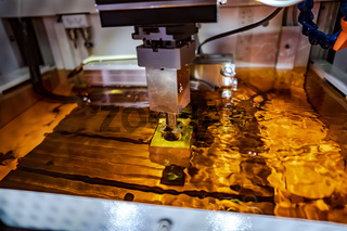 Metalworking CNC Electrolysis milling machine.