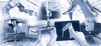 Modern production with industrial robots