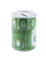 Euro money box isolated on white background. Finance concept.