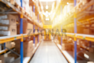 Abstract blurred industry background, warehouse, blur technique