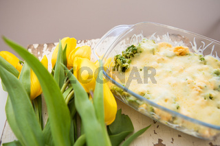 casserole with broccoli