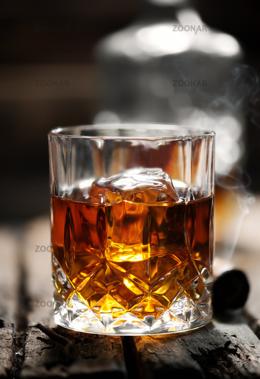 One glass of whiskey