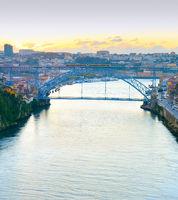 Douro river bridge Porto Portugal