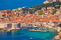 Town of Dubrovnik UNESCO world heritage site harbor view