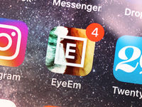 EyeEm mobile app on smartphone display