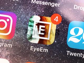 EyeEm mobile app on smartphone display