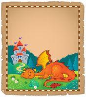 Sleeping dragon theme parchment 2