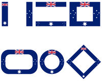 Fahnen von Australien mit Textfreiraum - Flags of Australia with copy space
