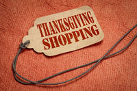 Thanksgiving shopping text on price tag