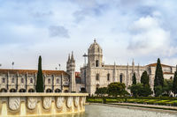 Lisbon Portugal city skyline at Jeronimos Monastery