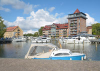 Neustrelitz in Mecklenburg Lake district,Mecklenburg western Pomerania,Germany