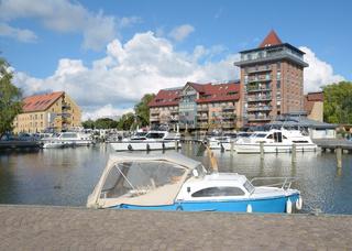 Stadthafen von Neustrelitz,Mecklenburgische Seenplatte,Mecklenburg-Vorpommern,Deutschland