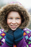 Girl in winther clothing