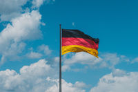 flag of Germany, german flag on flagpole -