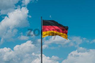 flag of Germany, german flag on flagpole -