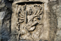 Mahishasur Mardini, Hadshi Temple, Sant Darshan Museum near tikona Vadgoan Maval, District Pune, Maharashtra, India