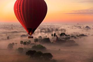 Hot air balloon flight in Bagan