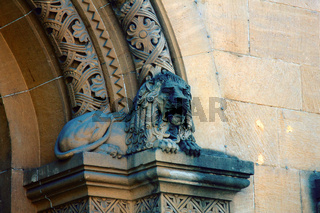 Capitals of columns and pilasters of buildings of eclectic architecture