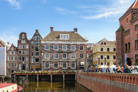 Dancing Canal Houses of Damrak, Amsterdam, Netherlands