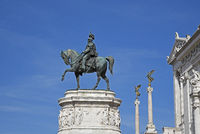 Vittorio Emanuele II, national monument, Piazza Venezia square, Rome, Italy, Europe
