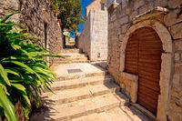 Old stone street of Cavtat