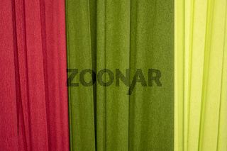 red and green crepe paper background