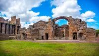 Grand Thermae or Grandi Terme area in Villa Adriana or Hadrians Villa archaeological site of UNESCO in Tivoli - Rome - Lazio - Italy