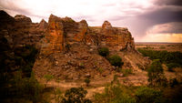 Abstract Rock formation in Isalo national park , Madagascar